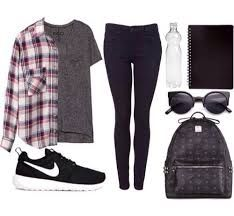 Image result for back to school outfits high school black