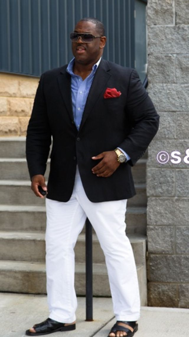BigTall Fashion big guys with style. BHM Well besides the sandals...blah                                                                                                                                                     More
