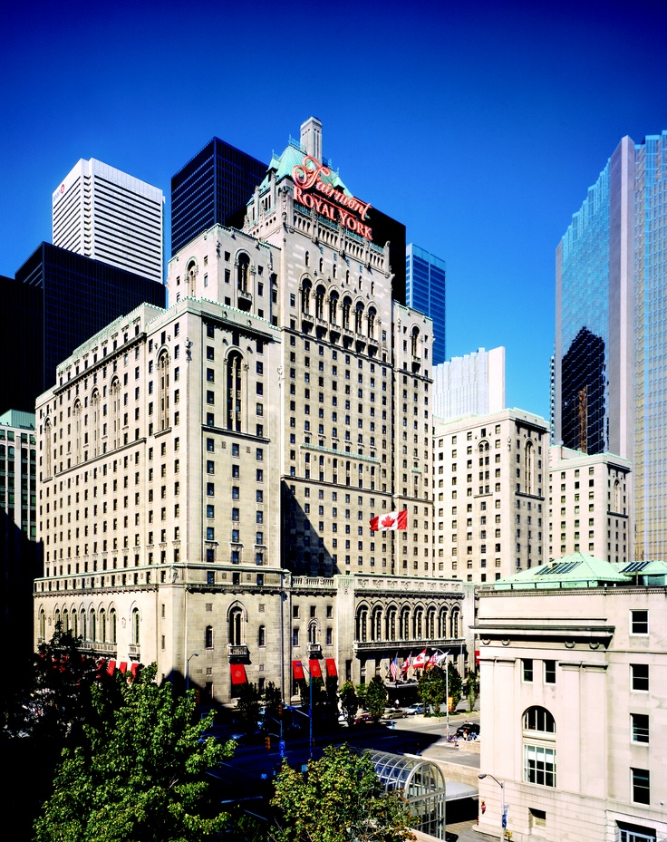 A Toronto landmark, the Fairmont Royal York Hotel.