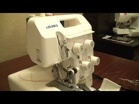 How to thread your serger Juki 644d Step by step tutorial