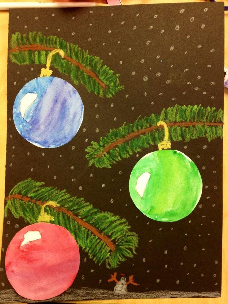 5th gr holiday ornaments thanks to Miss Osborne at http://tinyartroom.wordpress.com