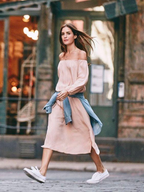 Combo: maxi dress com tênis