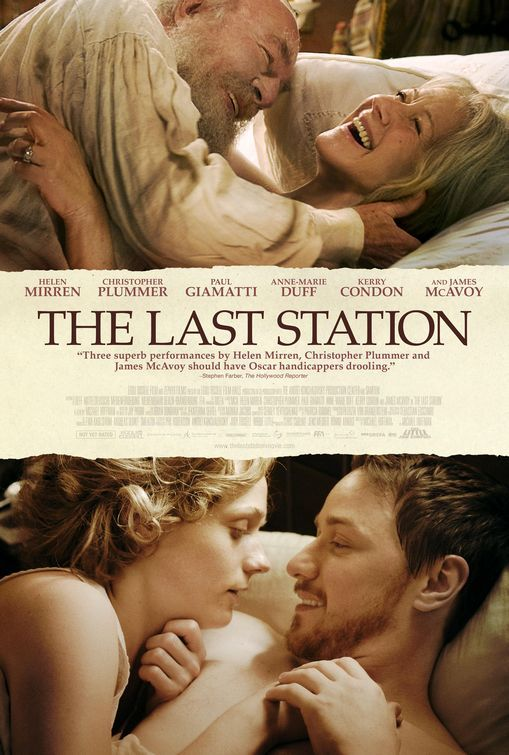 The Last Station - The last days of Tolstoy beautifully acted by Christopher Plummer and Helen Mirren