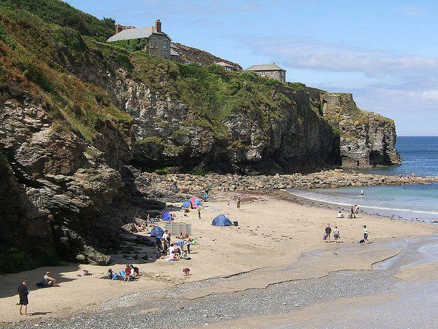Cliffs at St Agnes Beach, Cornwall, England