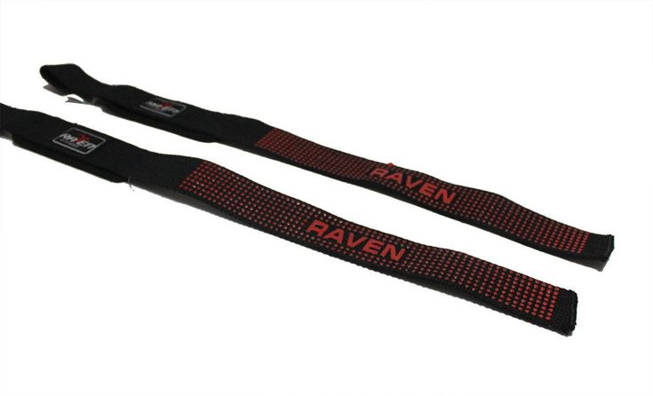 RAVEN Lifting Strap Single Tail Red Silicon Glove MMA Boxing Kickboxing Muaythai #RAVEN