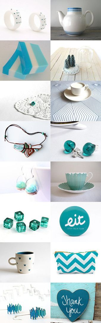 White and teal by Ginger Zoo and Co. on Etsy--Pinned with TreasuryPin.com Eit3000