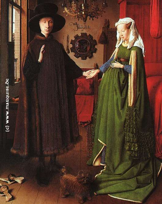 The Arnolfini Marriage by Jan van Eyck, 1434