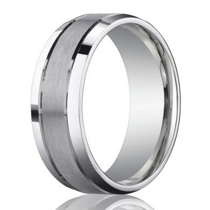 designer 950 platinum mens wedding ring with polished edge 6mm