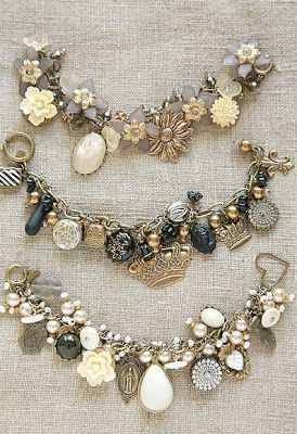 just one more example. again, opt for more vintage inspired charms, or just one that reminds you of me. Nothing with a bunch of charms all about super materialistic things like shoes, purses, makeup, etc.: