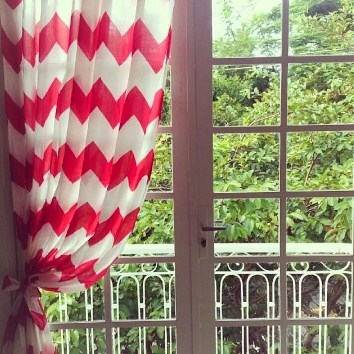 cortina chevron petiscos