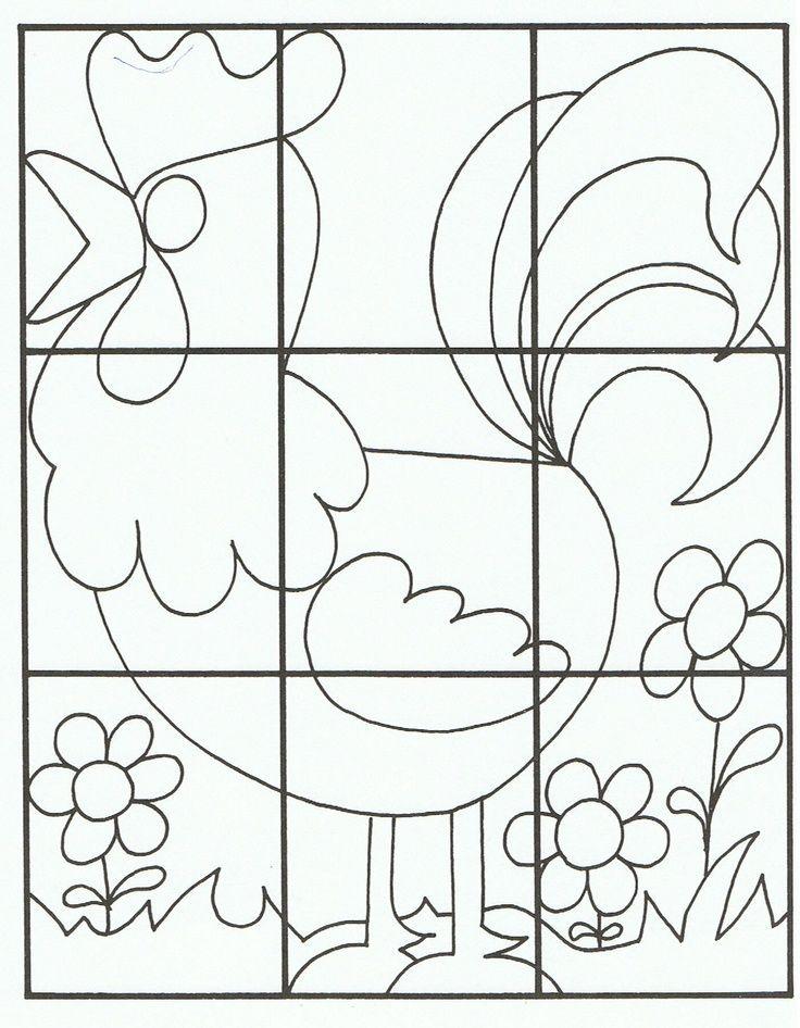Einfaches Puzzle Arbeitsblatt Bastelarbeiten Und Arbeitsblatter Fur Vorschulkinder Kleinkinder Und Works Bastelarbeiten Ostern Kindergarten Vorschule