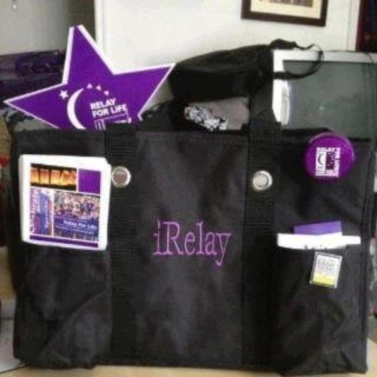 """31 gifts tote!!!! I have this and I want it monogrammed with """"iRelay"""" so cute"""