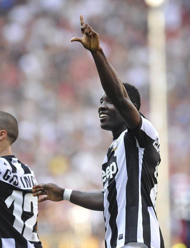 Genoa - #Juventus 1-3  Esultanza di Kwadwo Asamoah dopo il goal