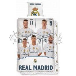 Real Madrid 074 - lenjerie de pat din bumbac pentru copii 140x200
