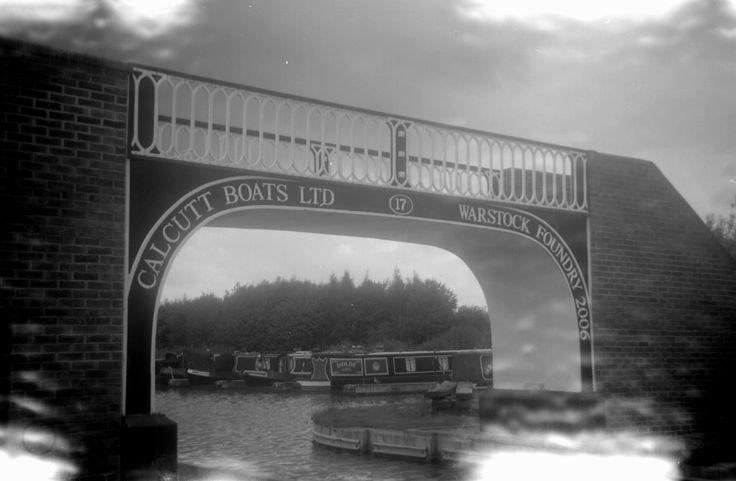 Taken with a 50's Box Brownie - Calcutt bridge @ Calcutt Marina www.calcuttboats.com