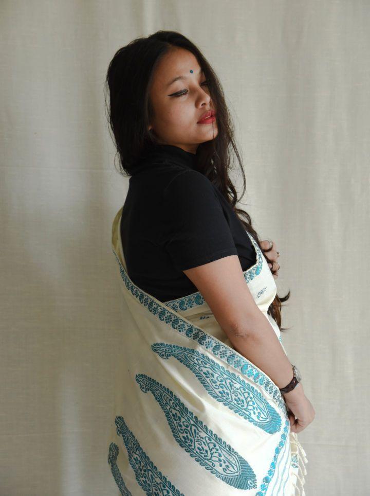 #MekhelaChadar #Paisley #Silk #Assam