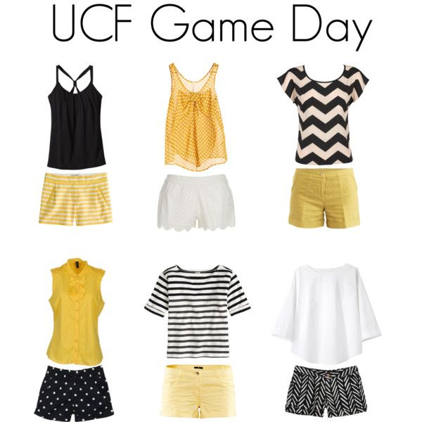 "Hey lovely UCF girlies! Repin this and make me Pinterest famous! C: ""UCF Game Day"" by jillllllllllian on Polyvore"