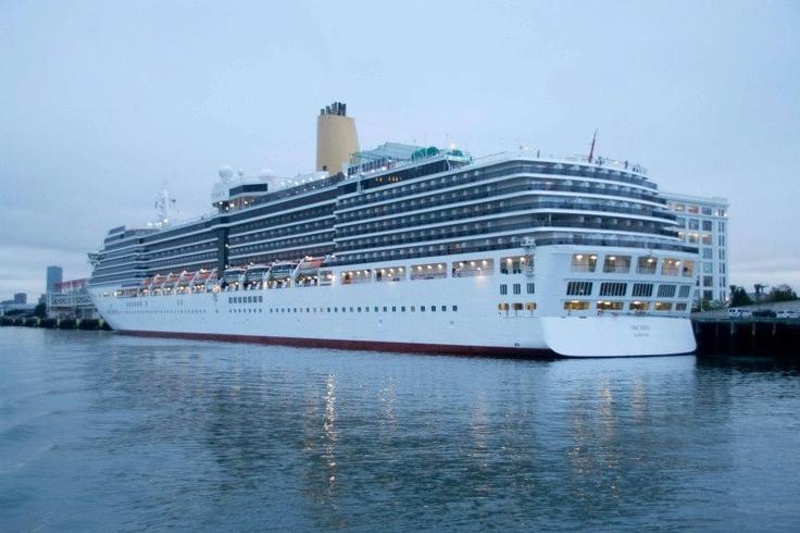 P Arcadia docked in Boston