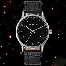 WLISTH Наручные Часы Для Мужчин 2017 Мужской Кварцевые Часы Мальчики Черный Часы Лучший Бренд Класса Люкс Известный Повседневная Наручные Часы Relogio Masculino(China (Mainland))