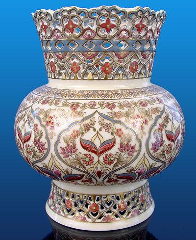 Zsolnay Reticulated Vase...LOVE