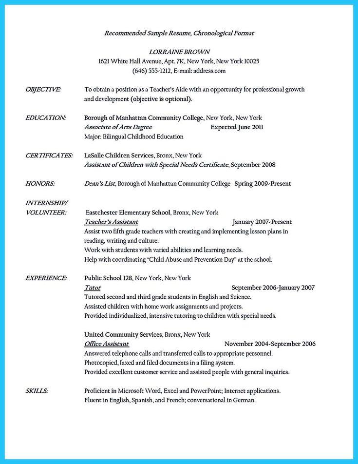 Best 25+ Teaching assistant cover letter ideas on Pinterest - cover letter for teacher resume