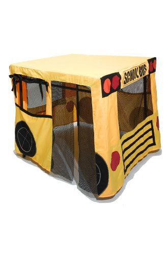 Amazon.com: Table Fables Fabric Play House (Yellow School Bus): Toys & Games