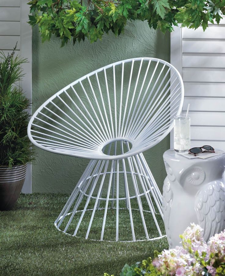 white metal patio lounge chair enjoy your outdoor living space in utmost style as you