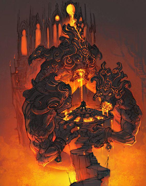 love this. a dark fulcrum of power, dedicated to Khornate worship.