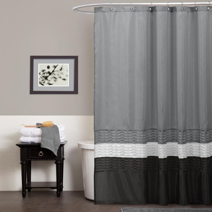 This Elegant Three Tone Shower Curtain Seriously Adds To The Decor Of Average Bathroom