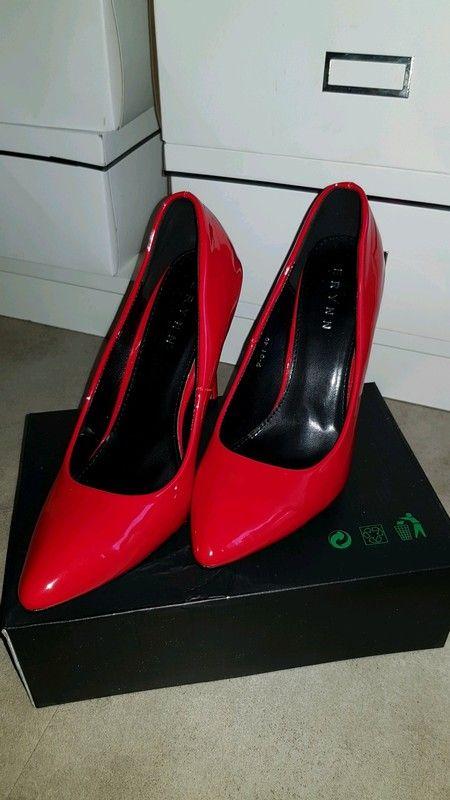Escarpin rouge vernis