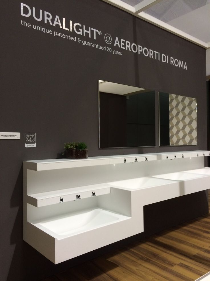 These washbasins have been designed for the project of the total renovation of #bathrooms for Aeroporto di #Fiumicino #ISH2015
