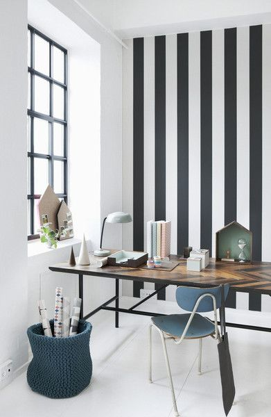 This Scandinavian, modern wallpaper is WallSmart quality. WallSmart wallpaper is a new generation of non-woven designer wallpaper that is easier and faster to hang. When hanging the wallpaper, apply the paste to the wall and then hang the sections by butting the edges together. This wallpaper has been printed using traditional printing methods so the ink appear as if it has been painted on. Designed Denmark and made in Sweden.