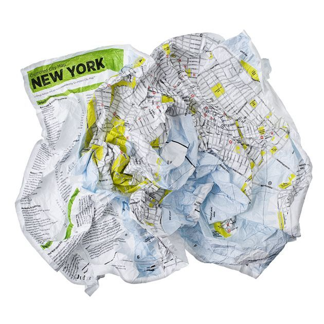 crumpled city maps for urban jungles