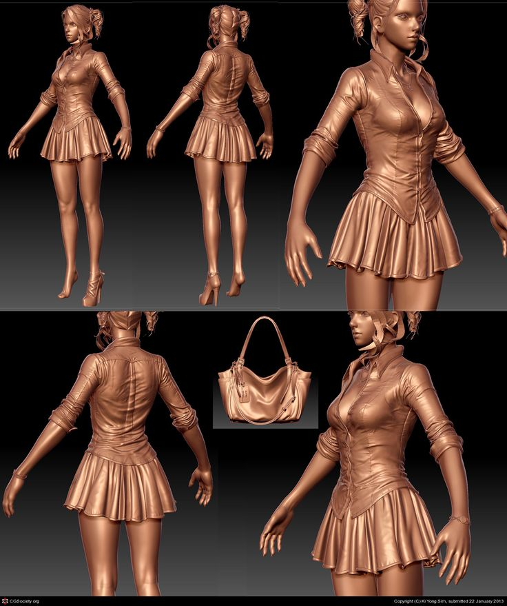 BLONDE(Realtime character) by Ki Yong Sim | 3D | CGSociety