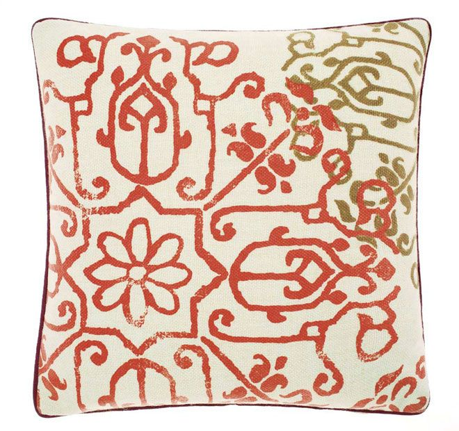Linen House Lifestyle Portugal 48x48cm Filled Cushion Coral