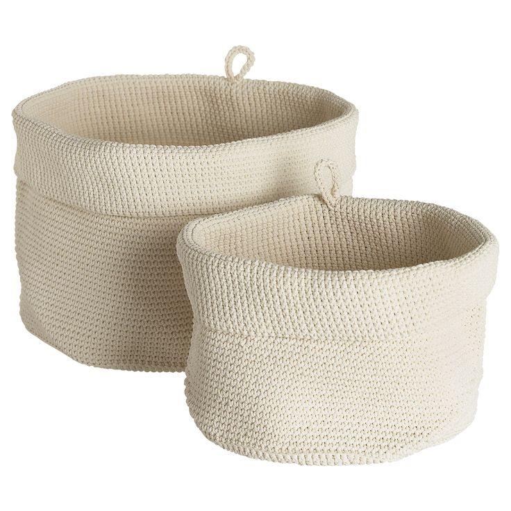 High Quality LIDAN Cesto, 2 Uds   IKEA · Crochet BasketsWoven ...