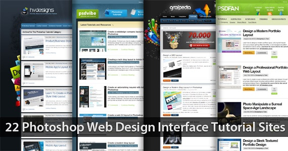 22 Photoshop Web Design Interface Tutorial Sites