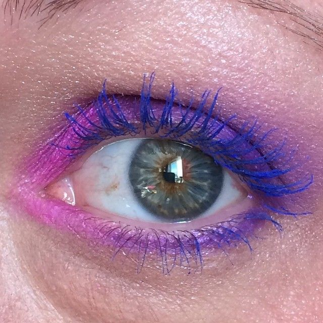 Just to further show off the very blue lashes! #bluemascara #bluelashes #purplemakeup #makeup #greeneyes #Dior #diorshow #makeupforever