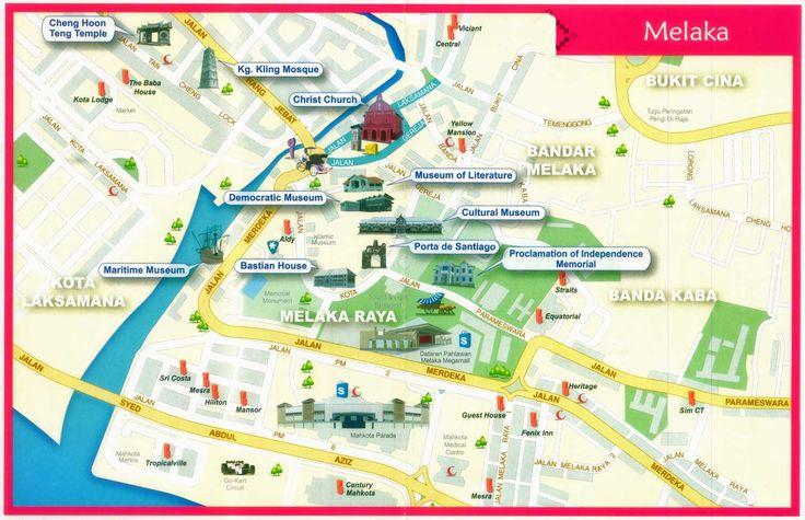 Malacca City Map