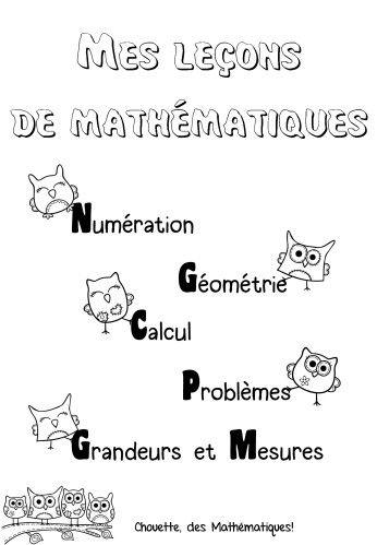 Et voila ma page de garde pour les leçons de mathématiques! Je suis en train de concocter des jeux autocorrectifs pour le français (nature des mots...)