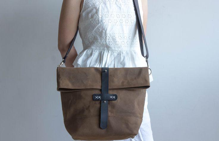 Borsa di tela cerata tela cerata messenger bag borsa di MOOIStudio