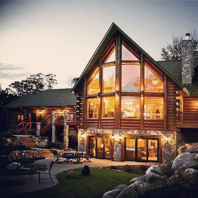 Lakehouse Constructed By Golden Eagle Log Homes Of Wisconsin Rapids WI