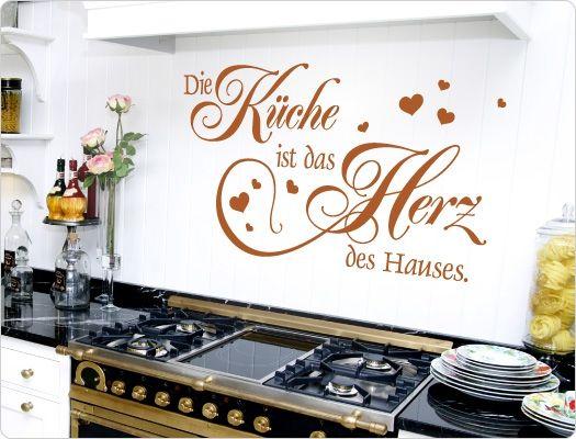 Wandtattoo Die Kuche Ist Das Herz Des Hauses Wandtattoo Kuche Kuchenspruche