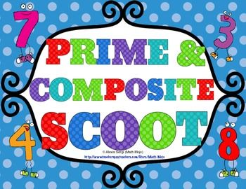 Prime and Composite Scoot - Get your students up and moving with this fast paced and fun game! $