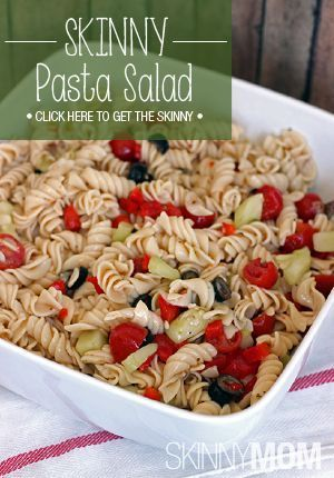 Take this Skinny Pasta Salad to your next party!