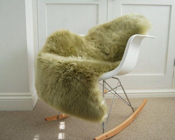 Pistachio Green Pale green Sheepskin Throw rug RARE! by Swedishdalahorse #TrendingEtsy