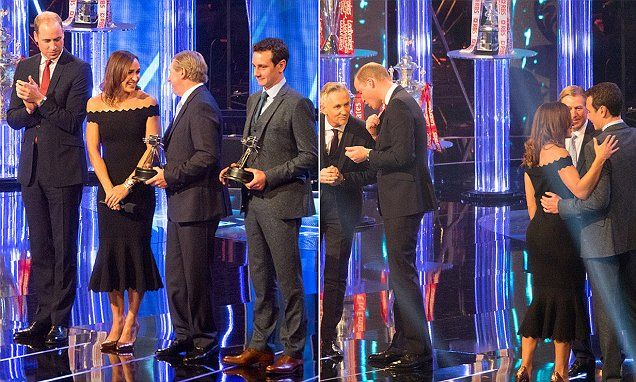 Prince William was photographed with his gaze apparently lingering on retired athlete Jessica Ennis-Hill at last night's BBC Sports Personality of the Year Awards in Birmingham.