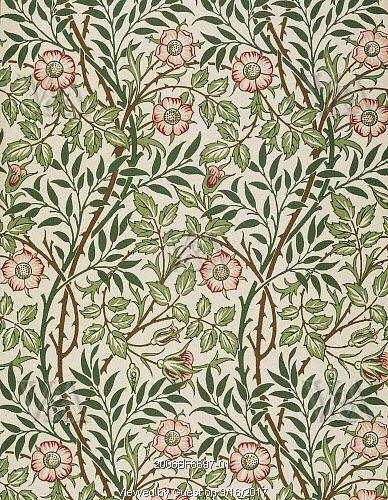 Sweet Briar wallpaper, by John Henry Dearle. England, 1912