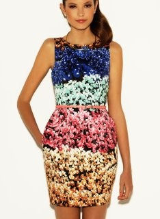 Black Base, Colorful Print: I Observed That The Campaigns, Summer 2012, Summer Campaigns, Color, Summer Style, Flowers Power, Summer 2012, Stylish Dresses, Floral Prints Dresses