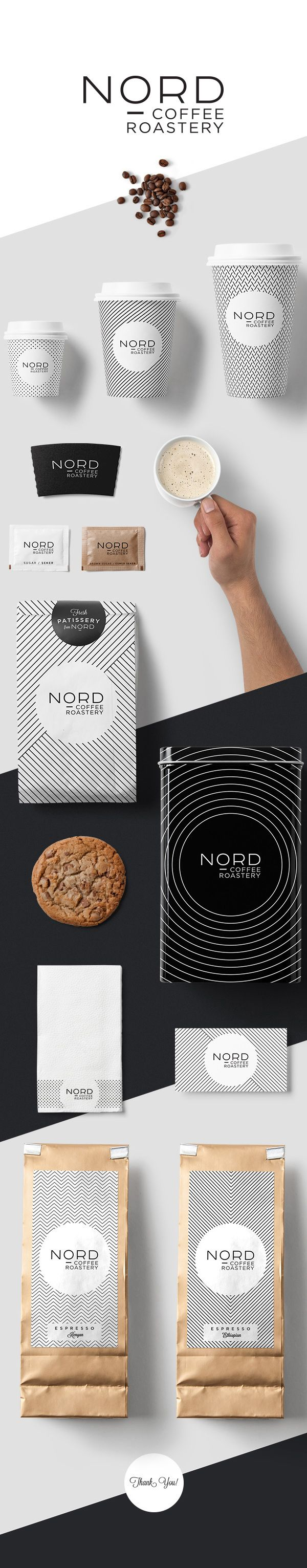 NORD Coffee Roastery packaging on Behance by Kutan Ural curated by Packaging Diva PD. Got time for a cup of coffee?